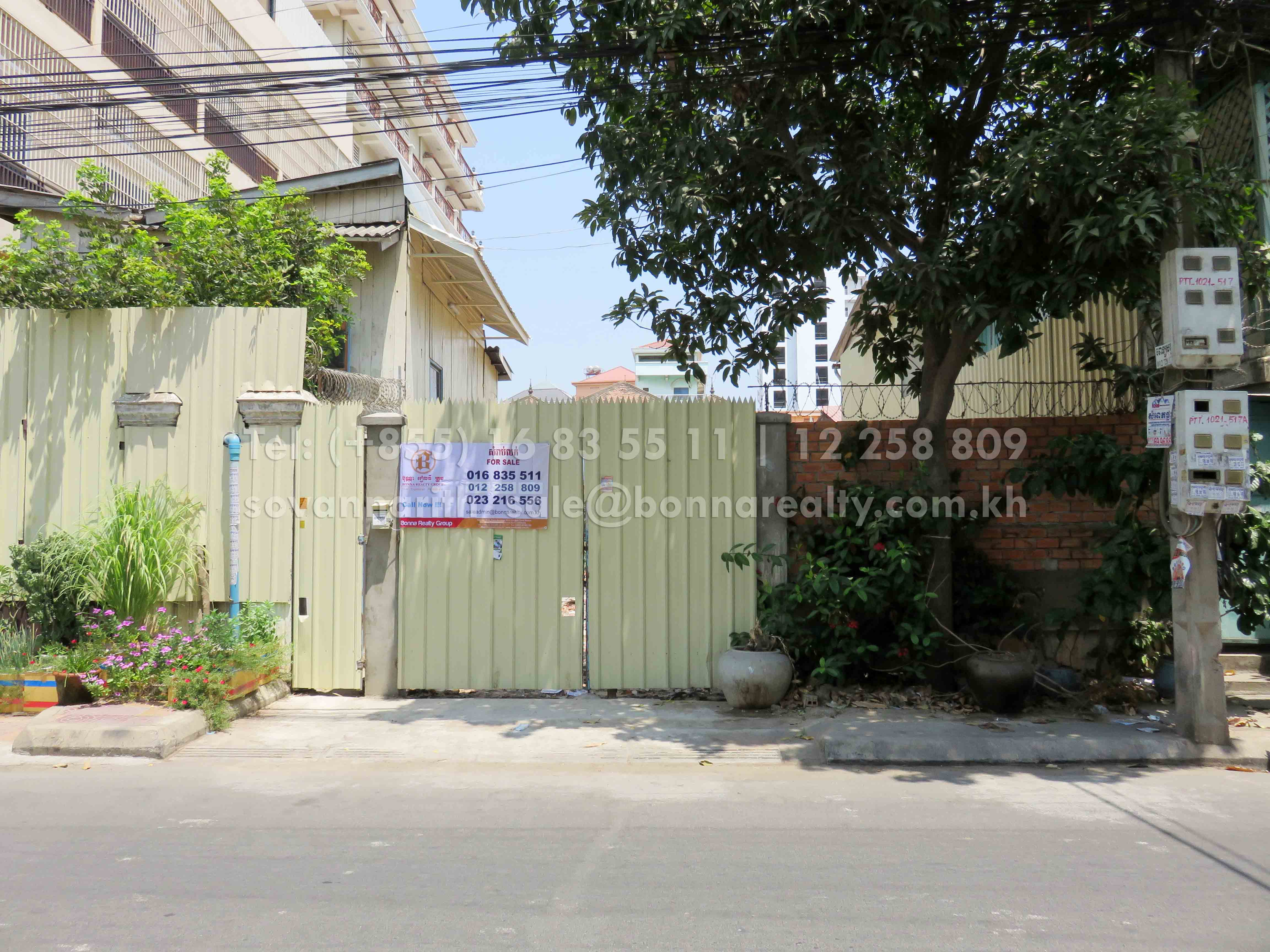 Land for sale near Tuol Tom Poung Market